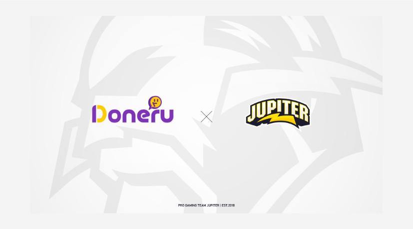 配信者支援サービスを提供する「Doneru」がプロチーム「JUPITER」とのスポンサー契約締結